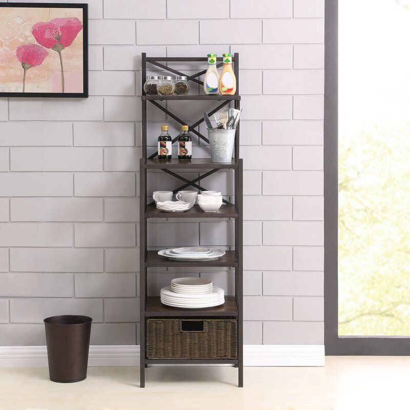 Magdaleno Iron Baker S Rack In 2020 Cheap Furniture Bakers Rack