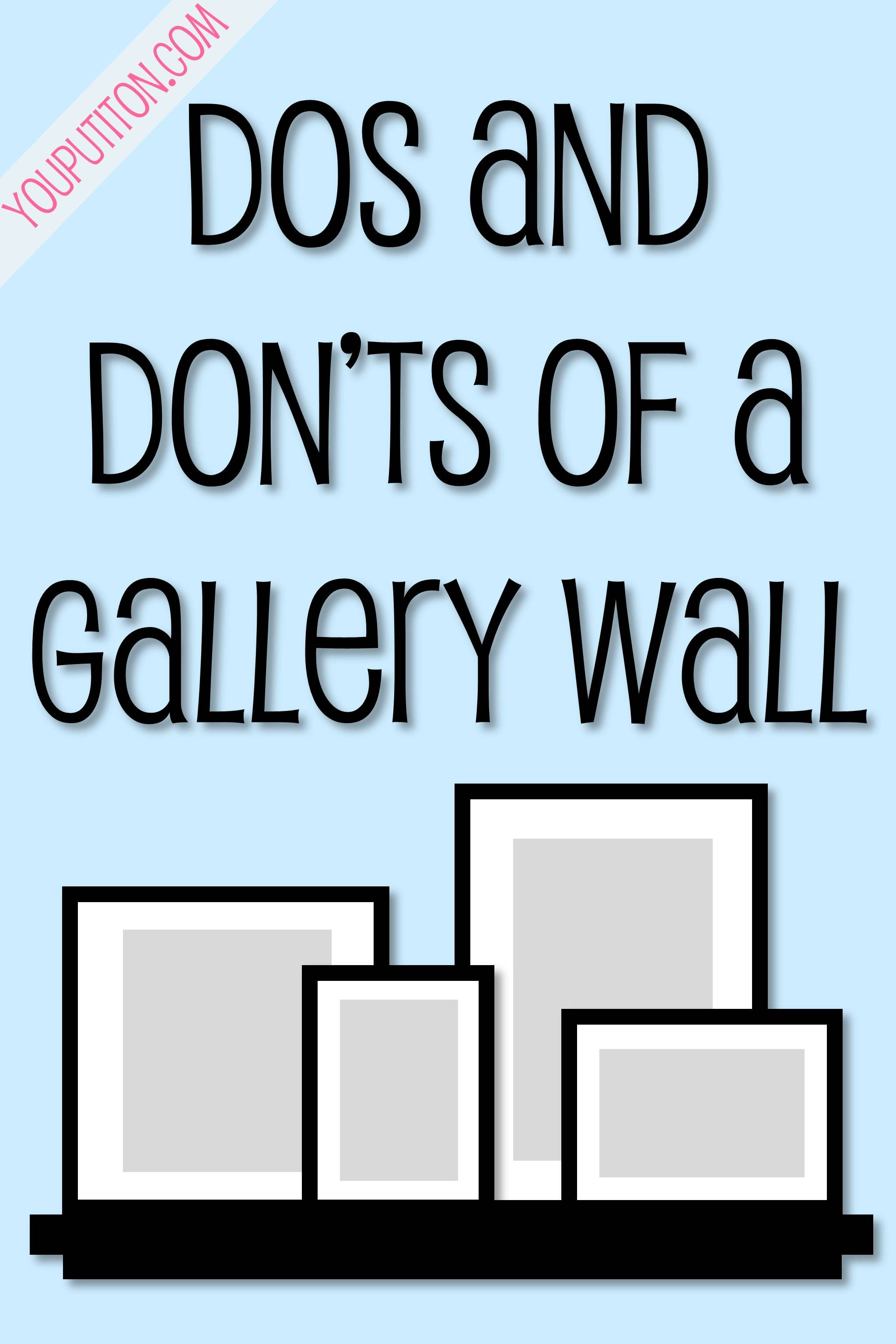 Dos and don 39 ts of a gallery wall best of pinterest Accent wall do s and don ts