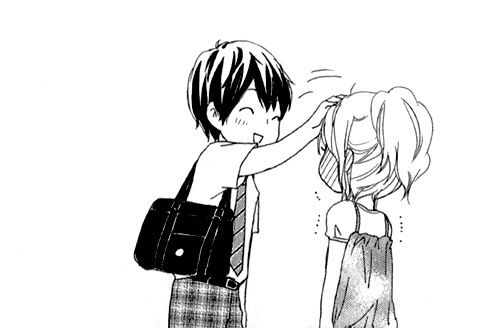 Cute couple manga love button mangas pinterest - Manga couple triste ...