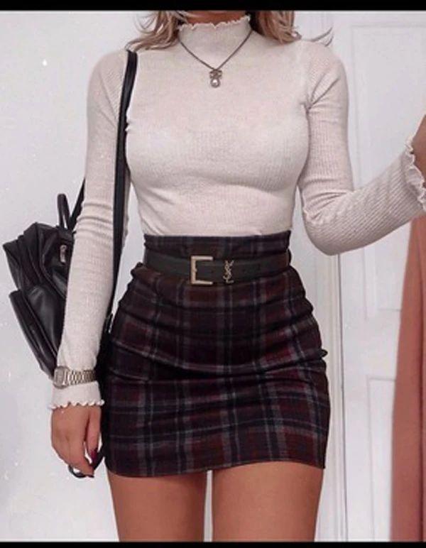 AUDREY Plaid Skirt