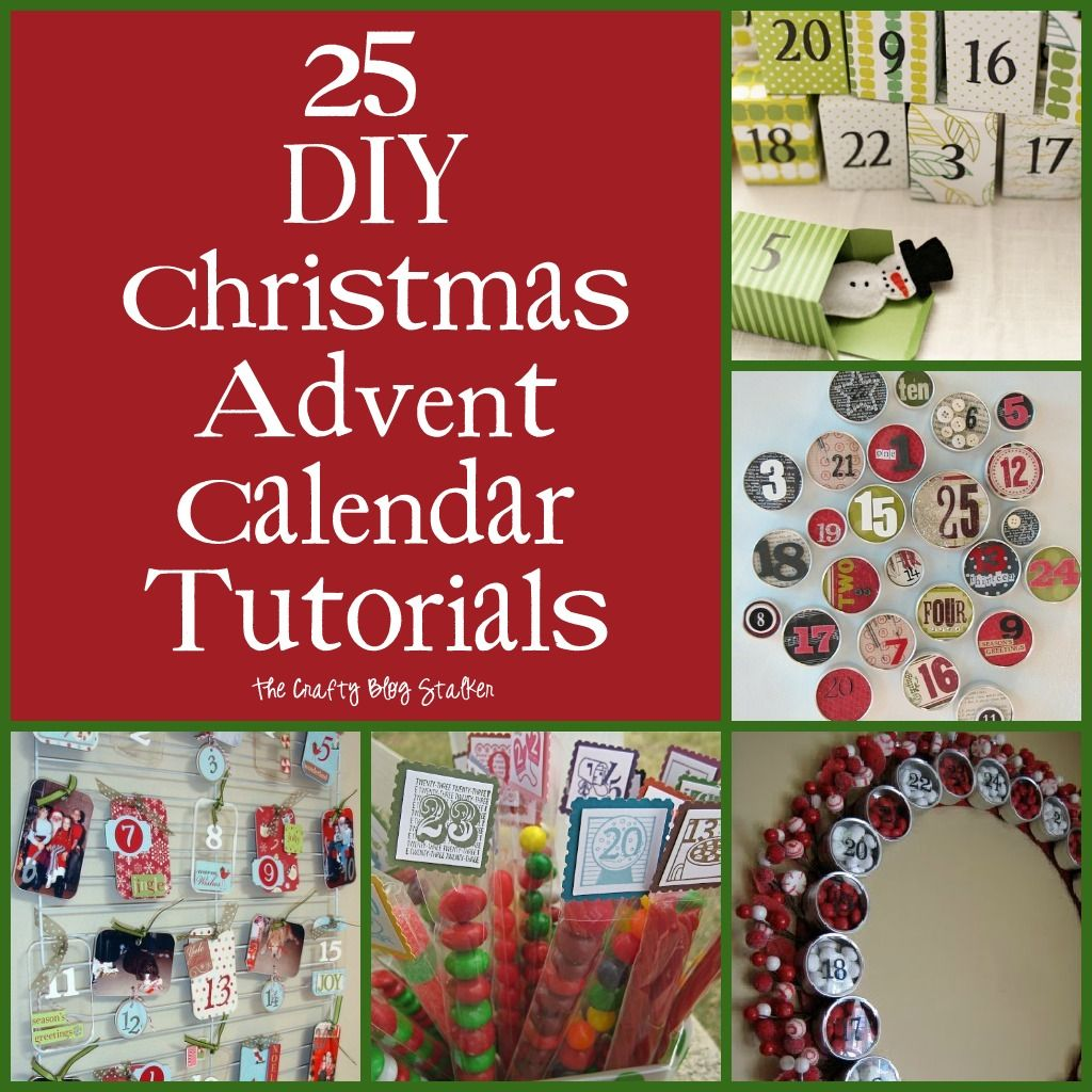 25 diy christmas advent calendar tutorials | diy christmas advent