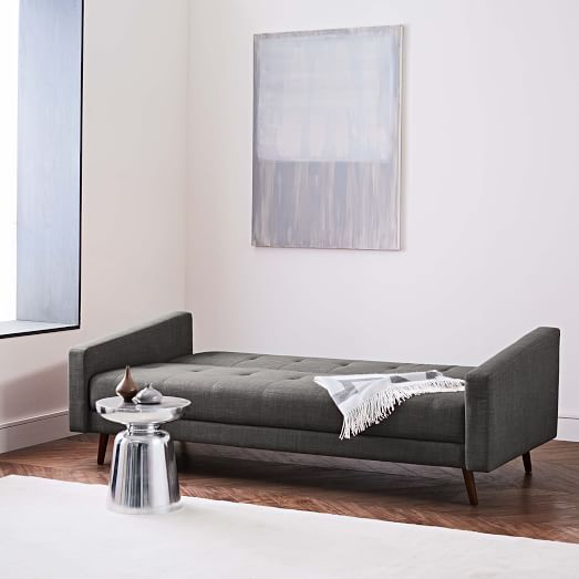 Admirable Clara Sleeper Sofa Twill Gravel Concealed Supports Pdpeps Interior Chair Design Pdpepsorg