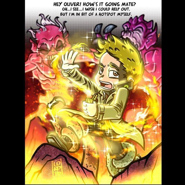 """""""He's in Hell"""" ✨✨ @mattryanreal!! #arrow #constantine #hellblazer…"""