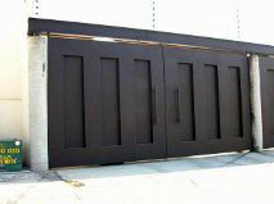 Portones metalicos minimalistas buscar con google for Portones de hierro para garage