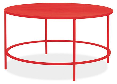 Slim Round Coffee Table In Colors Modern Coffee Tables Modern
