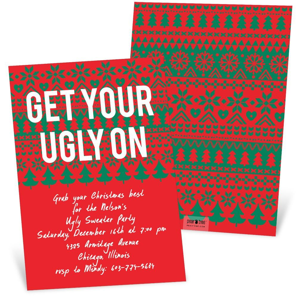 If youre throwing an ugly sweater party this holiday season this if youre having an ugly sweater party this ugly sweater party invitation from pear tree is perfect kristyandbryce Images