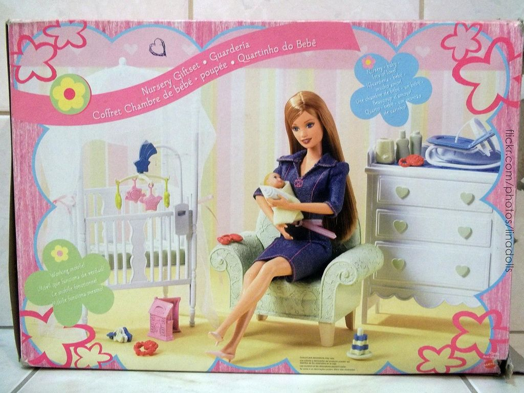 Barbie deluxe furniture stovetop to tabletop kitchen doll target - Barbie Happy Family Nursery Playset