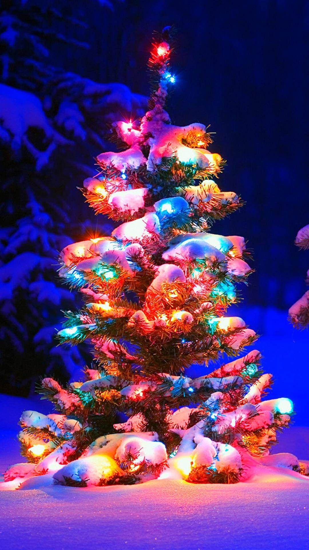 Christmas tree wallpaper christmas phone wallpaper