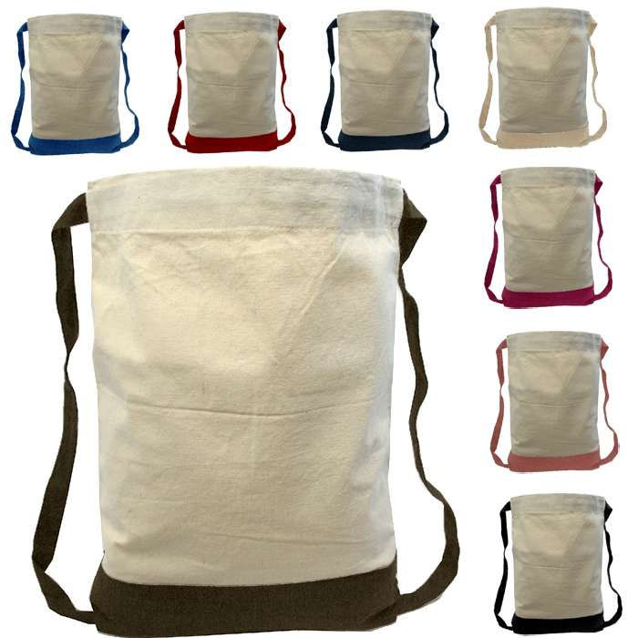 Canvas Two-Tone Drawstring Sport Bag/Backpack | Wholesale ...