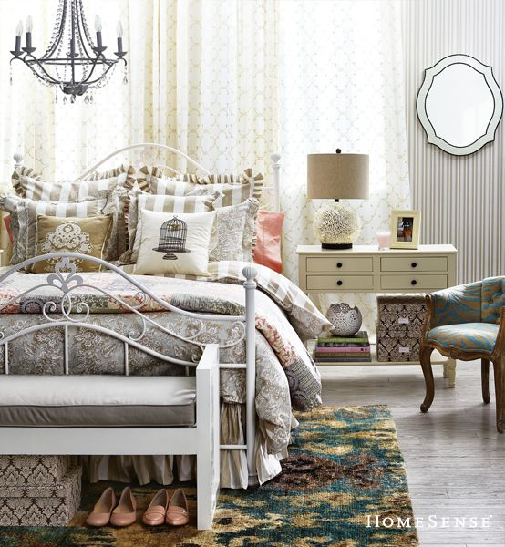 Love The Bed Frame And The Chandelier Romantic Bedding Www