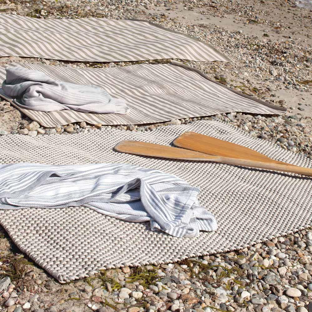 """Elegant Skandinavisch Teppich Galerie Von Dash & Albert Outdoor-teppich """"rope"""" Grau-creme"""