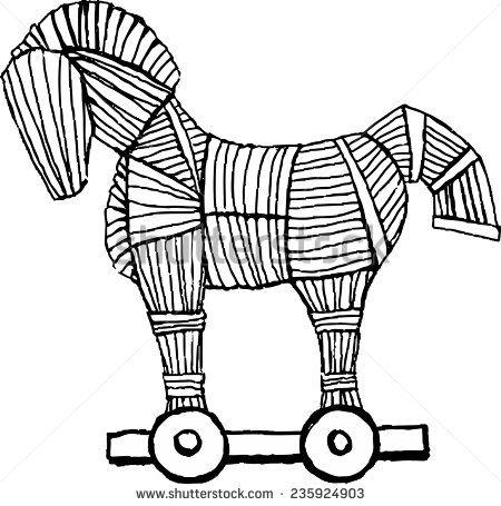 Trojan Horse Drawing Pesquisa Google Trojan Horse Horse