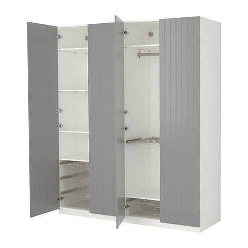 PAX Guardaroba con accessori interni - cerniera per chiusura ammortizzata - IKEA