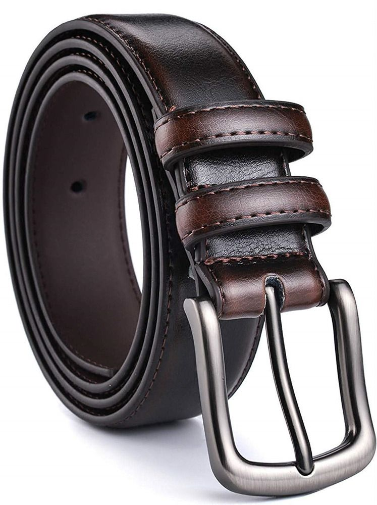 """Mens Belt Genuine Leather Dress Belt Casual 1 1//4/"""" Wide With Single Prong Buckle"""