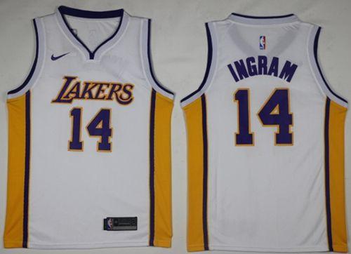 Los angeles lakers · Nike Lakers #14 Brandon Ingram White NBA Swingman  Association Edition Jersey