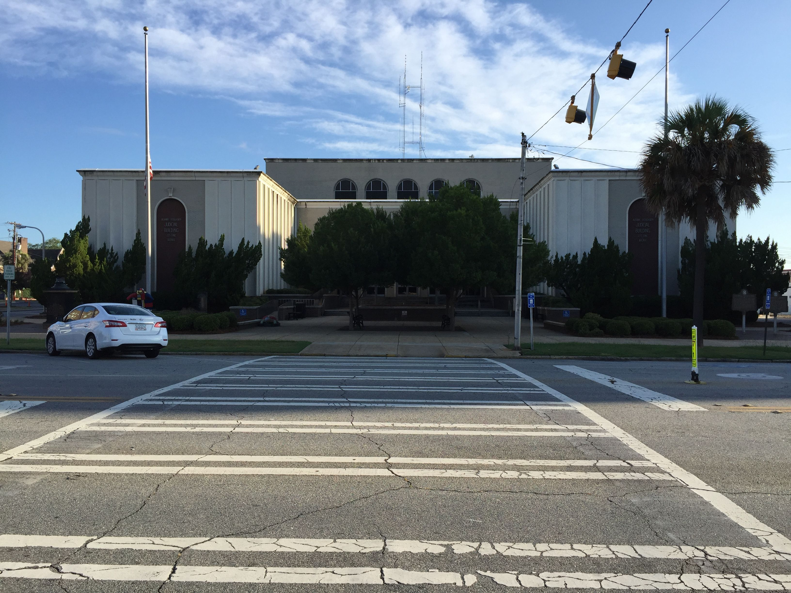 Dougherty County Courthouse in Albany, Georgia. Built 1968. Paul Chandler July 2016.