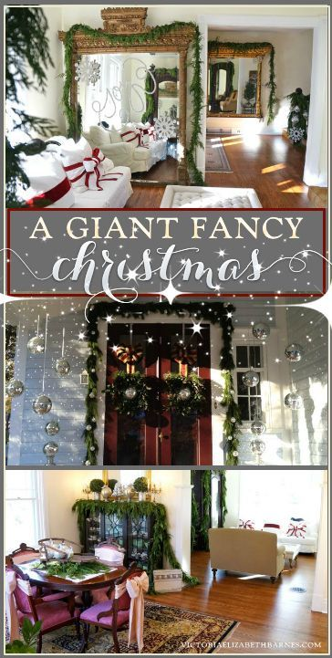 Holiday House Tour A Giant Fancy Christmas Victorian ChristmasDiy