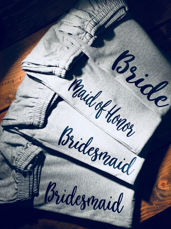 Bridal Party Personalized Sweatsladies Lounge Pants Bridal Party