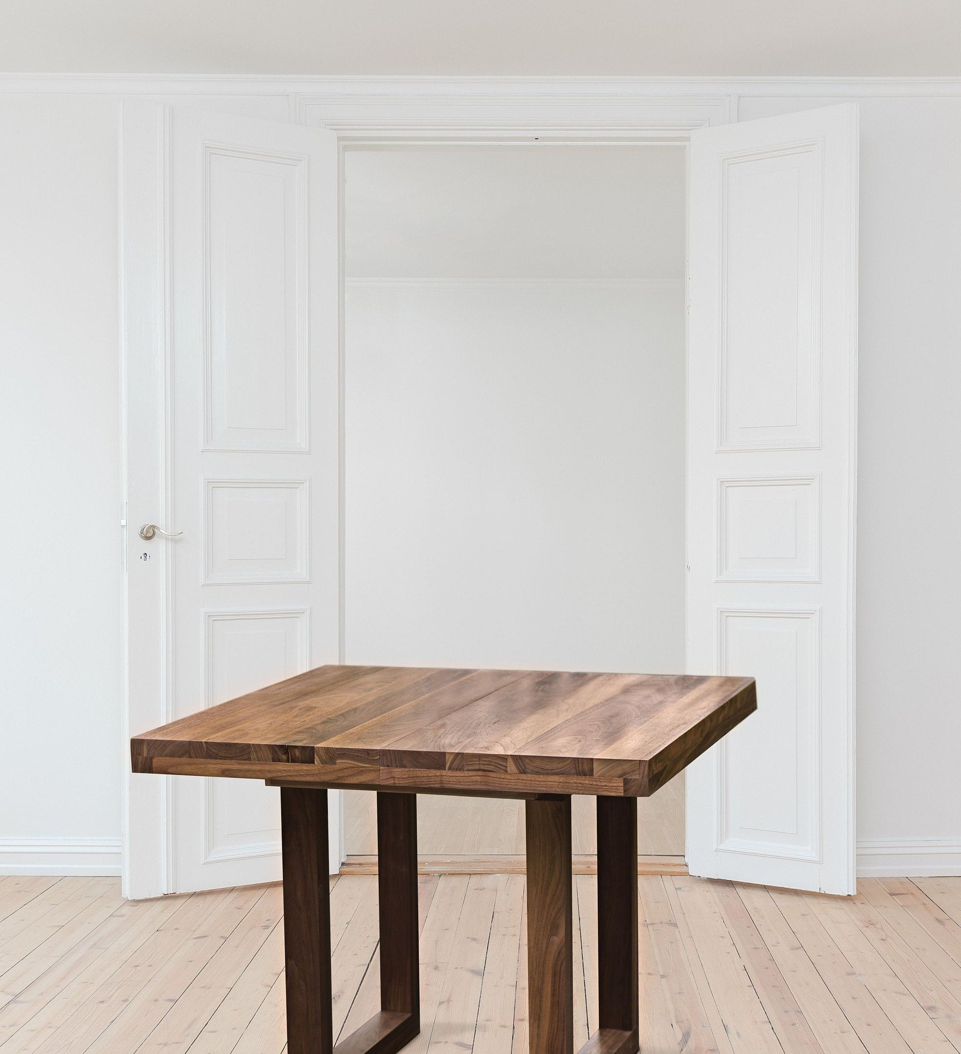 Extendable Dining Table Wood Walnut Dining Table Extendable To