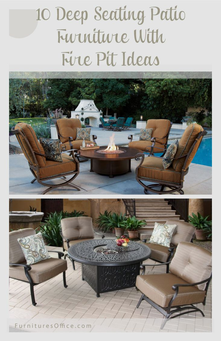 Deep Seating Patio Furniture With Fire Pit Deep Seating Patio