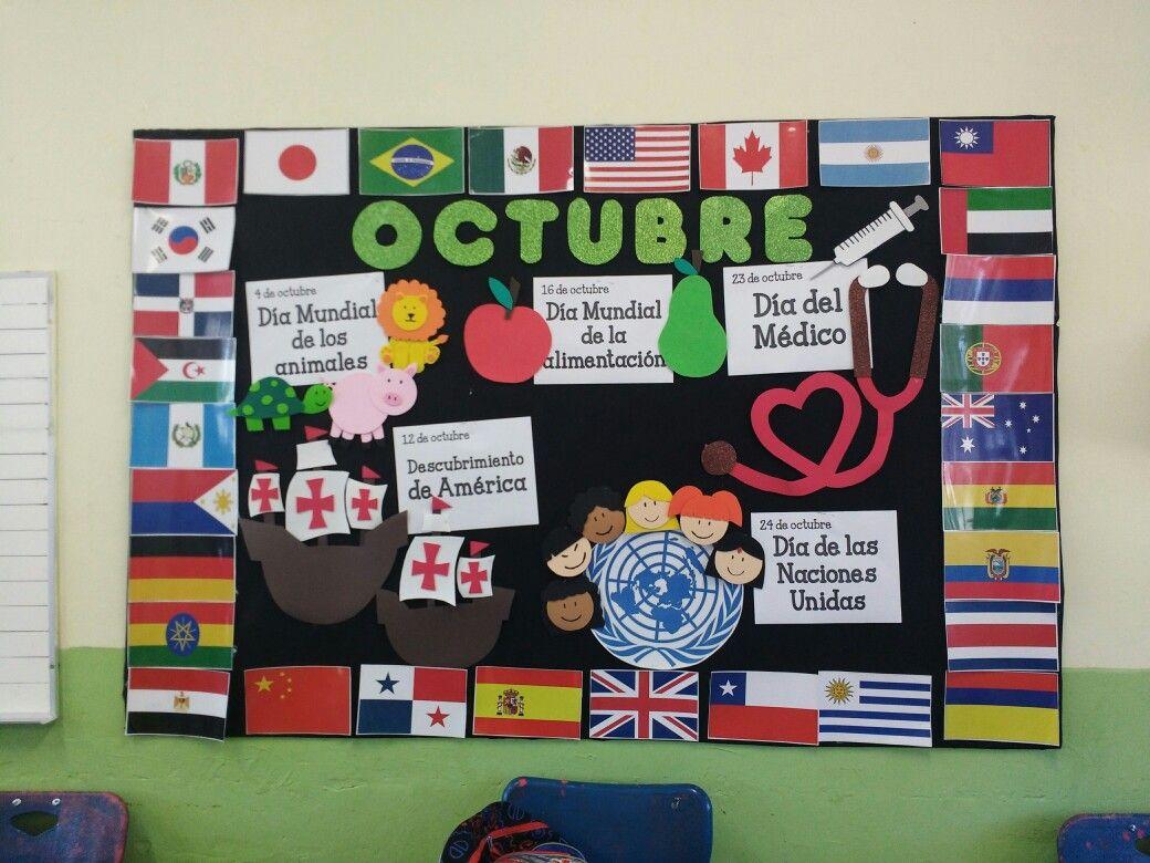 Classroom Mural Ideas : Periódico mural octubre bordes pinterest bulletin