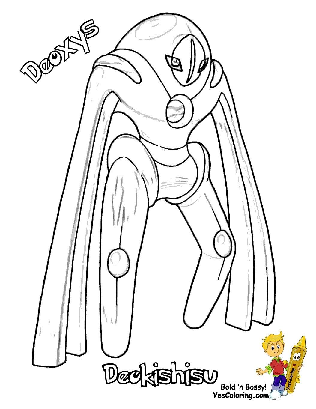 Pokemon Deoxys Coloring Pages