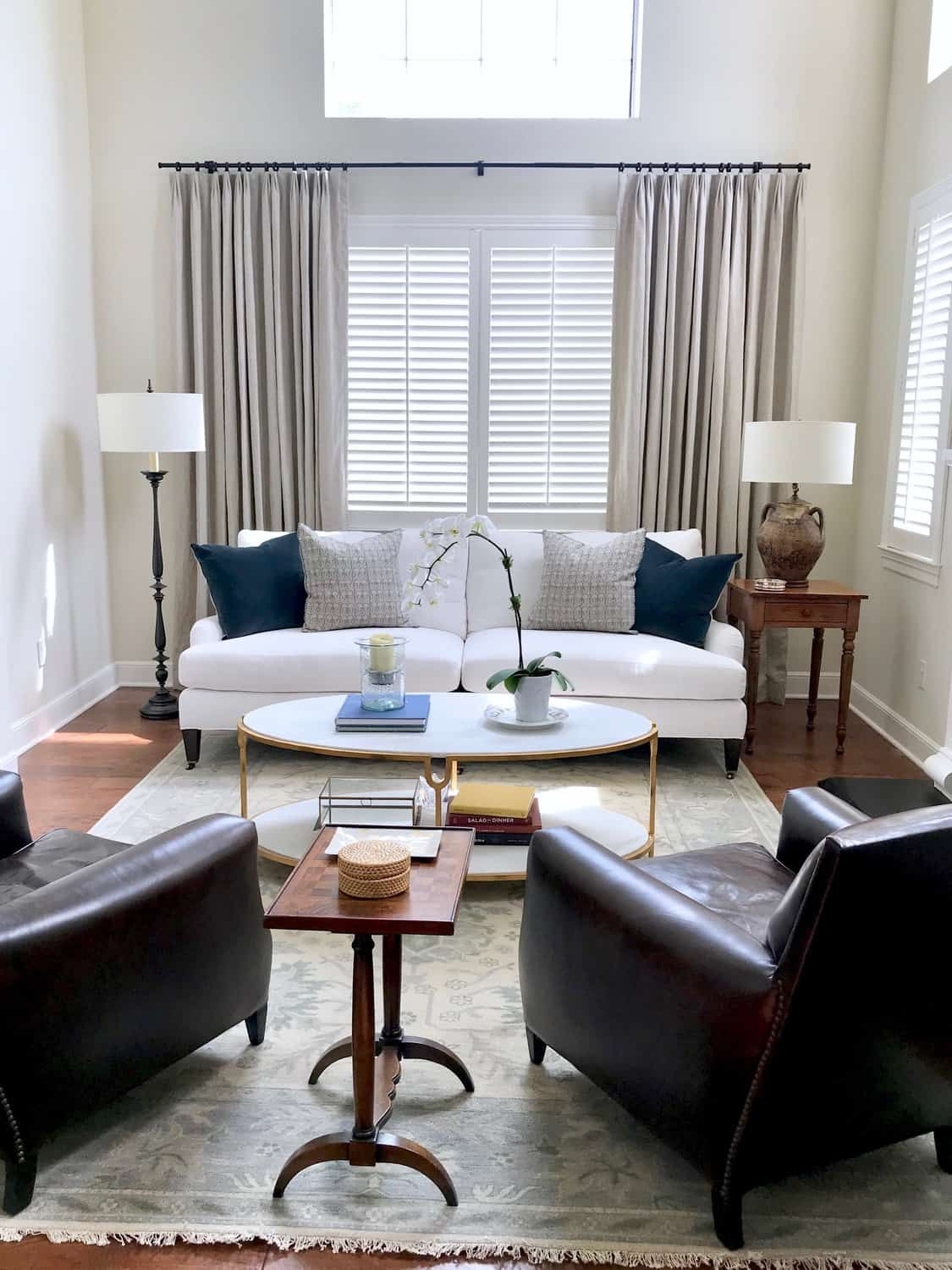 Fresh Classic Living Room and Dining Room Before and After | White ...