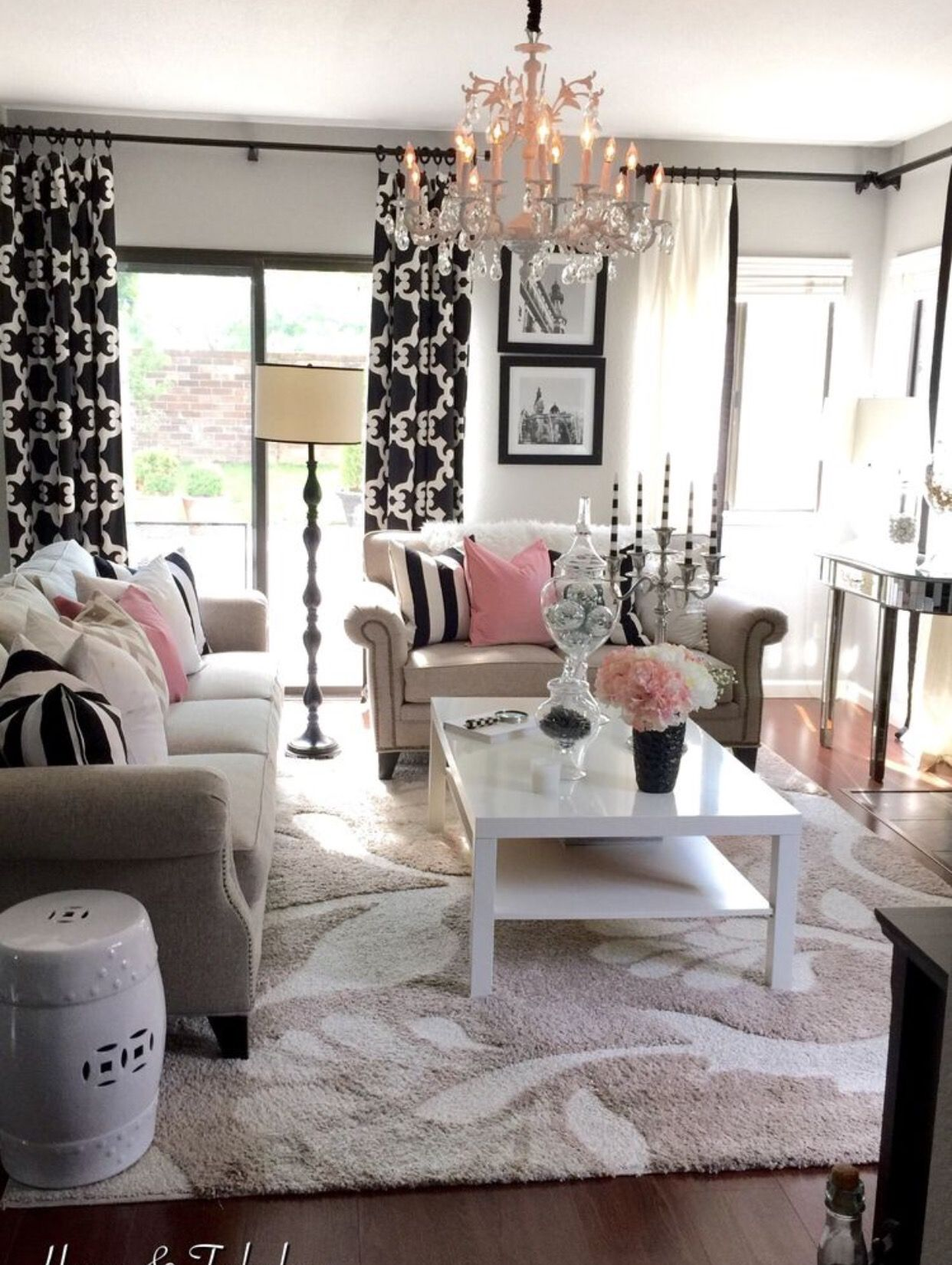 color harmony black pink and white always go well on beautiful modern black white living room inspired id=62227