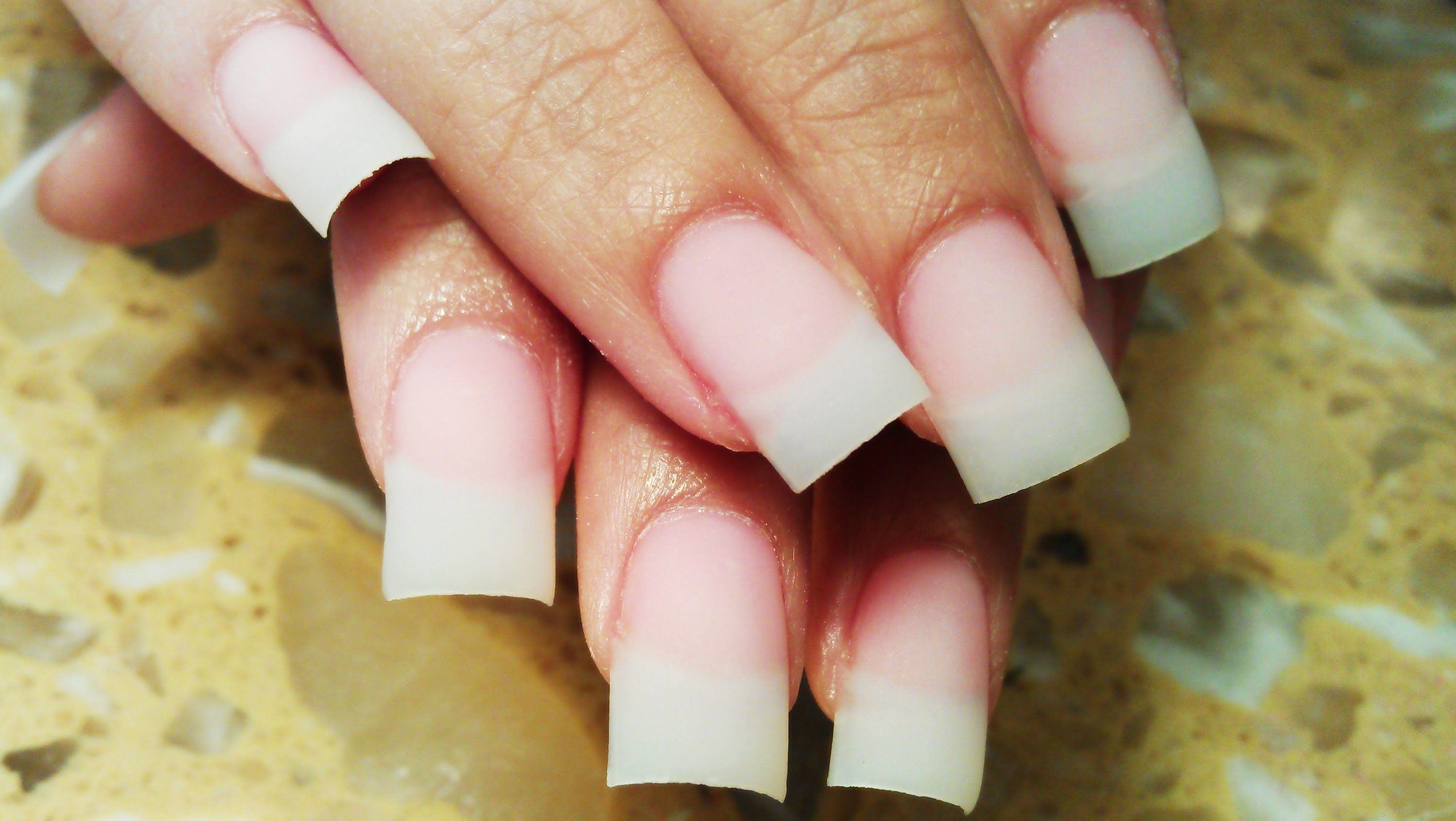 How to apply up close one stroke acrylic nails nails