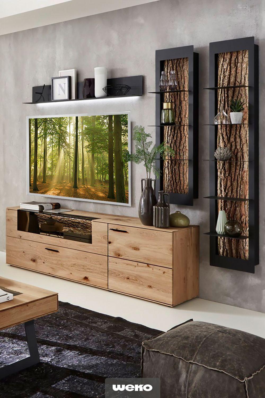11 Inspiration Wohnzimmer Anbauwand Massiv In 2020 Wohnwand Eiche Mobel Wohnzimmer Wohnen