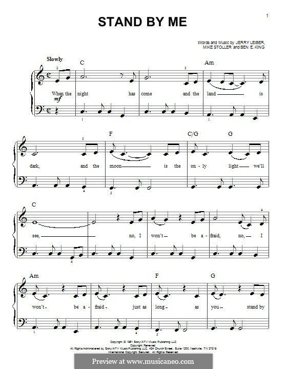 Stand By Me For Piano Avec Images Partitions De Piano