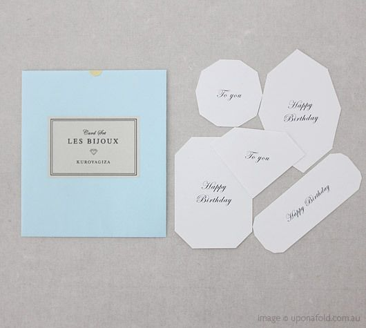 Les Bijoux Card Set with the five classic jewel cuts as cards.