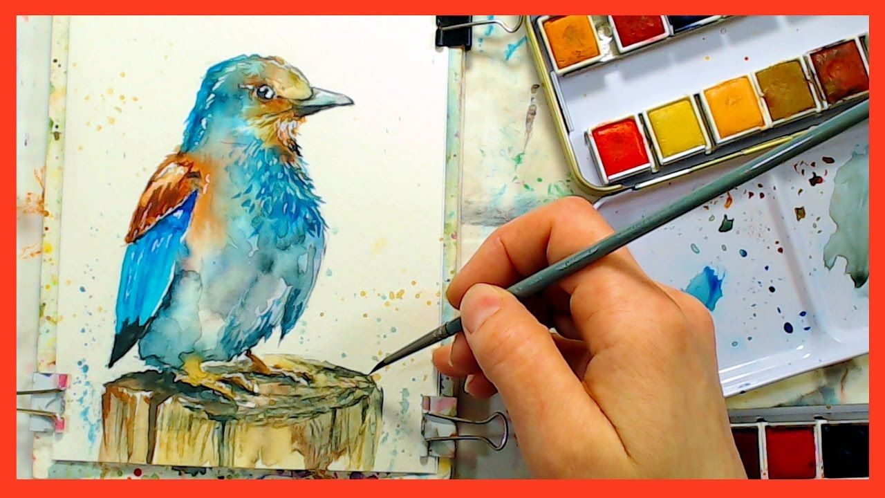 Pretty Bird In Watercolor Panting Tutorial Plus Q A At The End