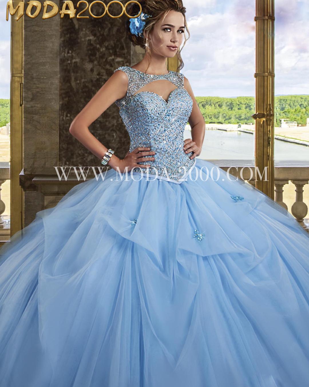 c2d87c1747 Cinderella blue quinceanera dress