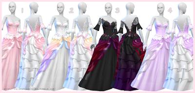 My Sims 4 Blog: Prisma's Wedding Dress + Gloves