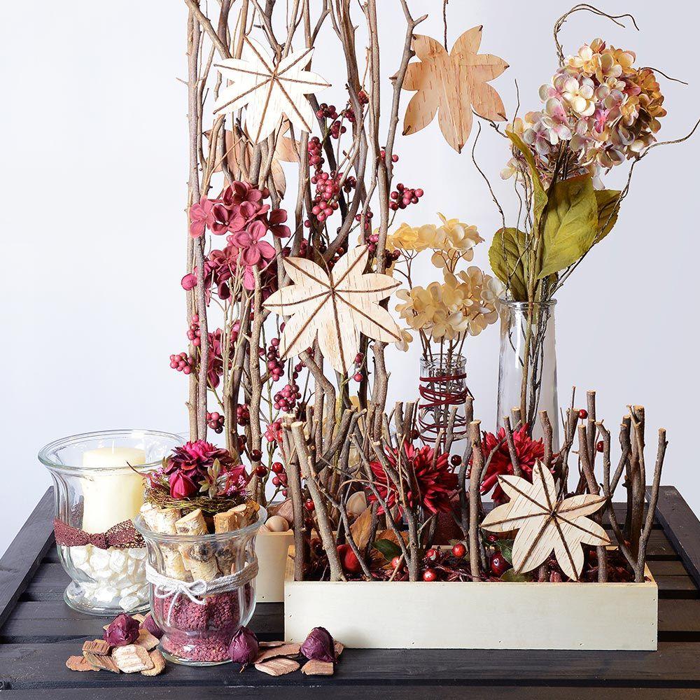 herbst herbstzeit herbstdeko deko ste kunstblumen depot pinterest deko ast. Black Bedroom Furniture Sets. Home Design Ideas