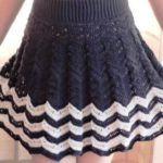 66 Modelos de faldas para niñas tejido a crochet