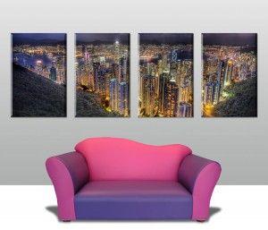 Hong Kong Split Panel Canvas Prints Australia Australia Wall Art Wall Art Canvas Prints Canvas Prints Online