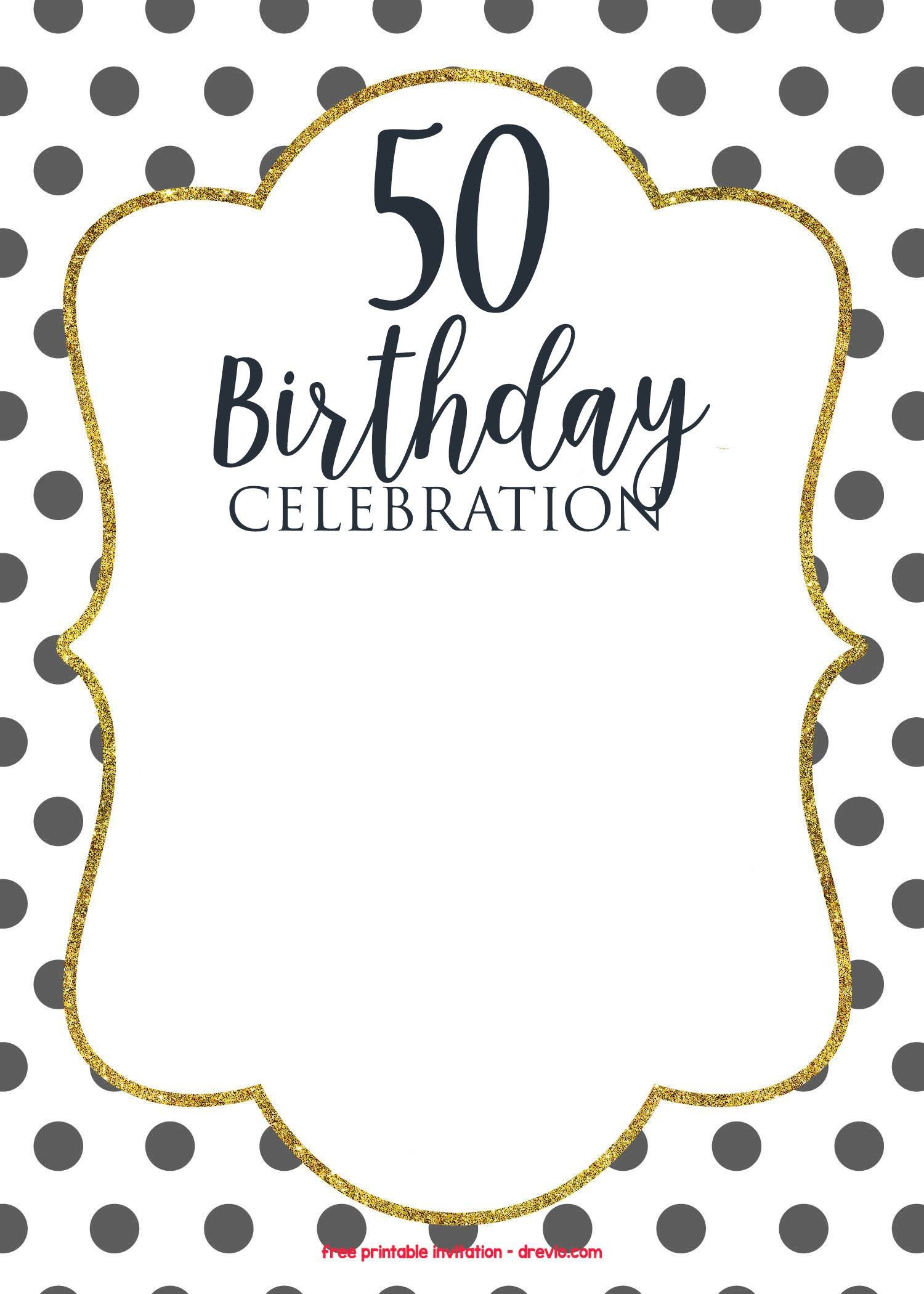 Download Now 50th Birthday Invitations Online Free Invitation Templates Printable