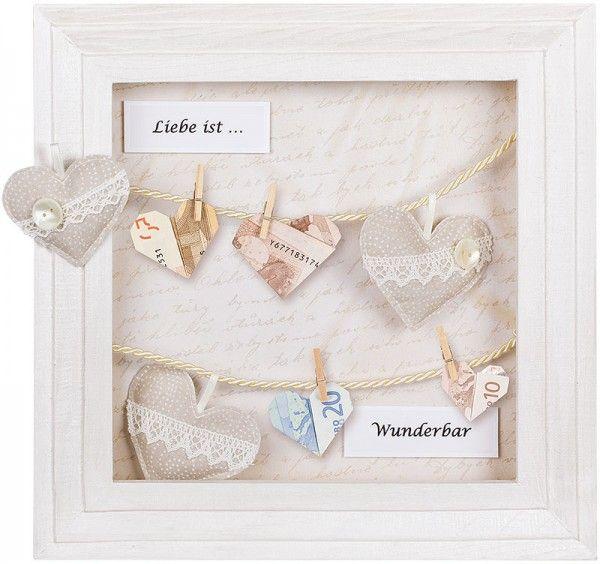 anleitung geldgeschenk im 3d bilderrahmen basteln mariage angelique pinterest geschenke. Black Bedroom Furniture Sets. Home Design Ideas