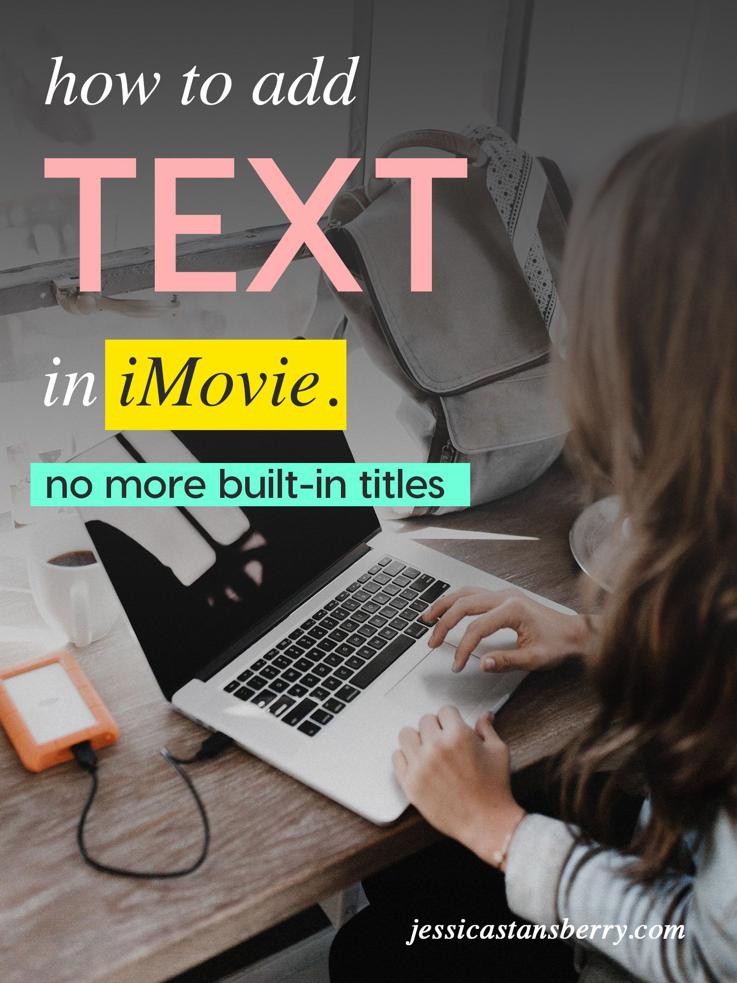 How To Add Text To Imovie A Video Tutorial For Adding Text To Imovie Youtube Channel Ideas Start Youtube Channel Iphone Videography