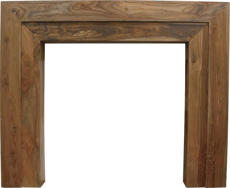 Vermont Natural Solid Sheesham Fireplace Surround | Fireplaces ...