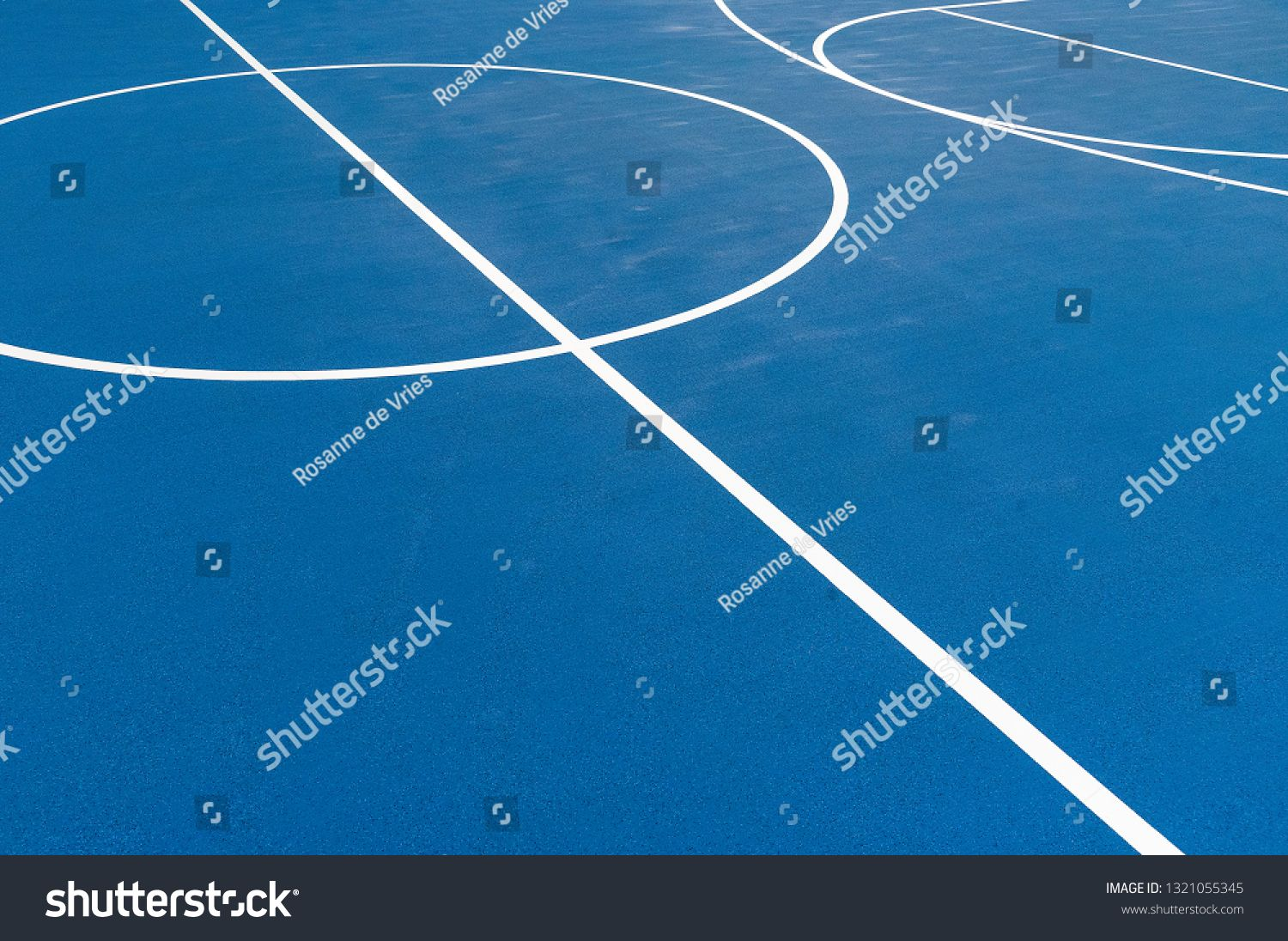 Blue Training field with white lines