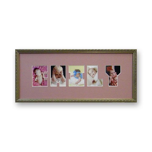 personalized letter collage photo