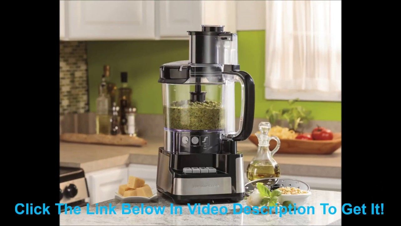 Hamilton beach 12 cup stack and snap food processor food