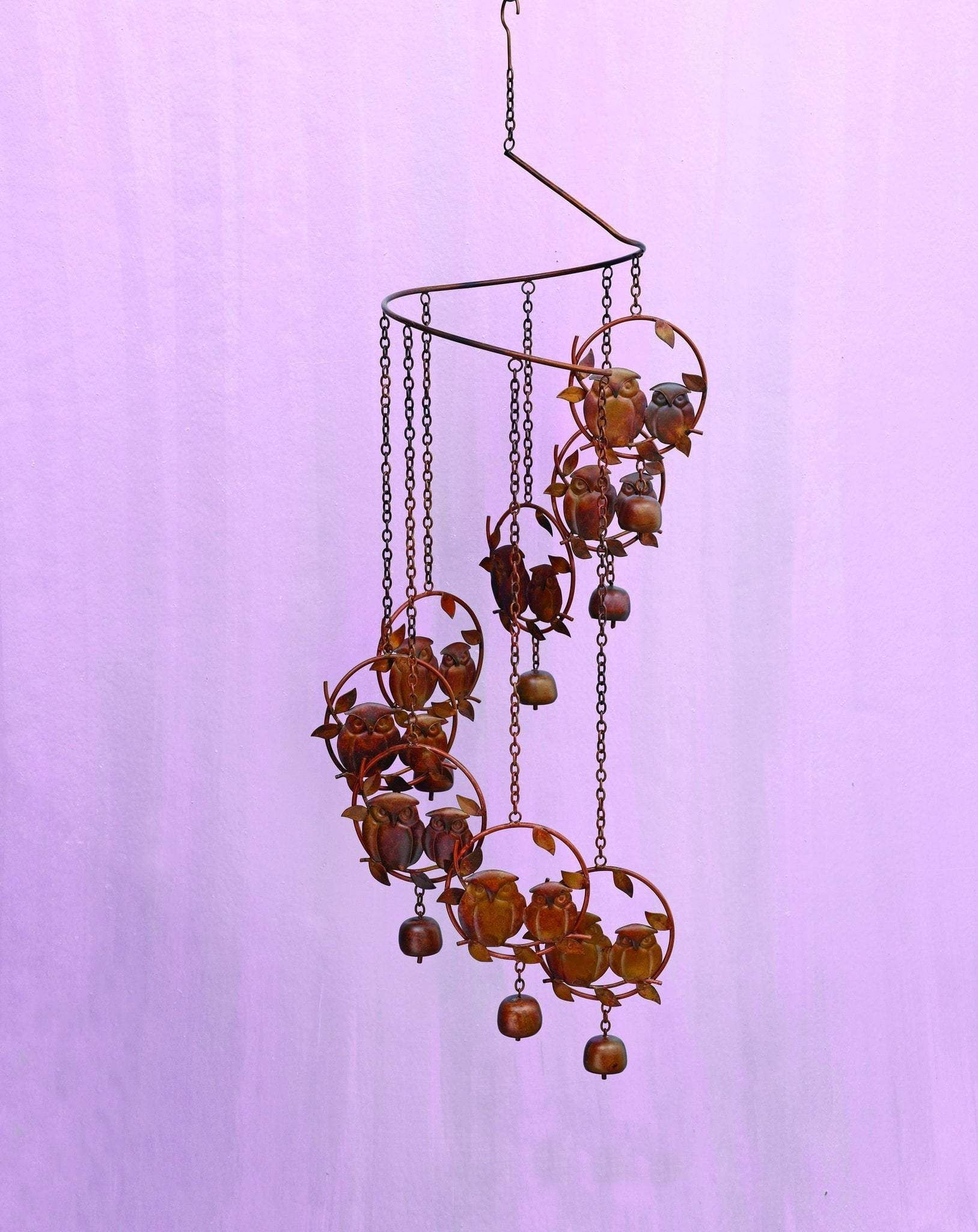Hanging Mobile Spiralling Dragonfly Garden Chime With Bells