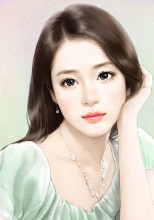 Asian girls in drawings