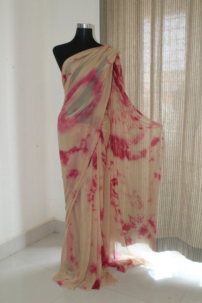b9f4966163 Shibori tie and dye georgette saree in 2019 | akrithi | Shibori ...