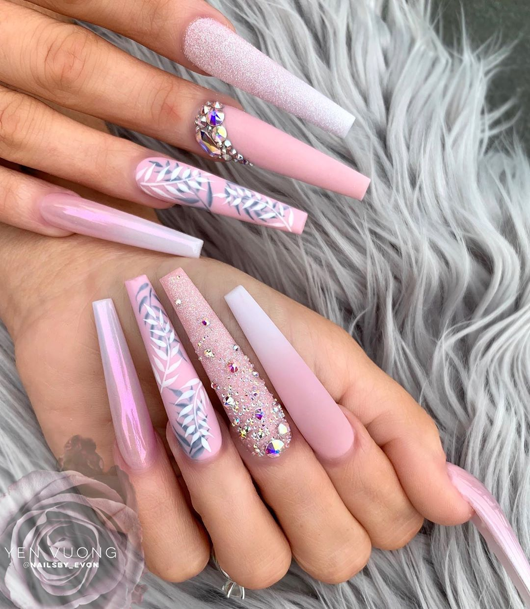 Evon Yen Vuong On Instagram I M Always A Threat That S Why They Always Target Me Coffin Nails Designs Long Acrylic Nails Summer Acrylic Nails