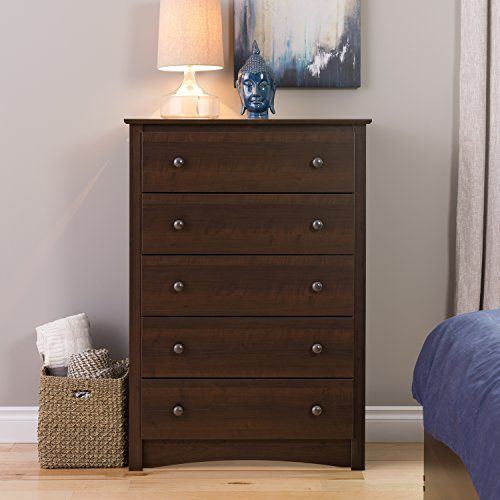 Prepac Fremont 5 Drawer Chest Espresso Brown ** You Can